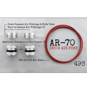 AR-­70/49-S Fork Tube Air Ride Kit