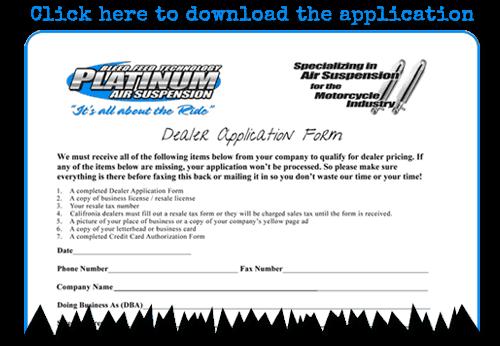 become a Platinum Air Suspension dealer