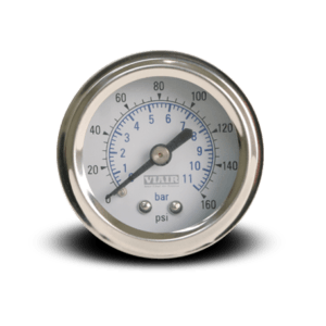 1.5 Inch Chrome Pressure Gauge